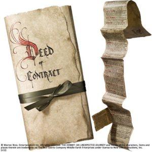 Réplica contrato de Bilbo - El hobbit