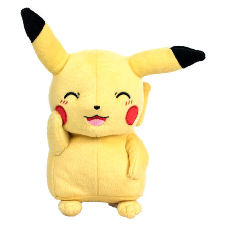Peluche Pikachu Pokémon sonriente 17cm