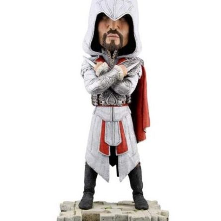 Assassin's Creed BrotherHood Ezio Auditore Head knockers 18cm