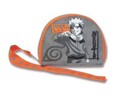Monedero de Naruto gris y naranja 10cm