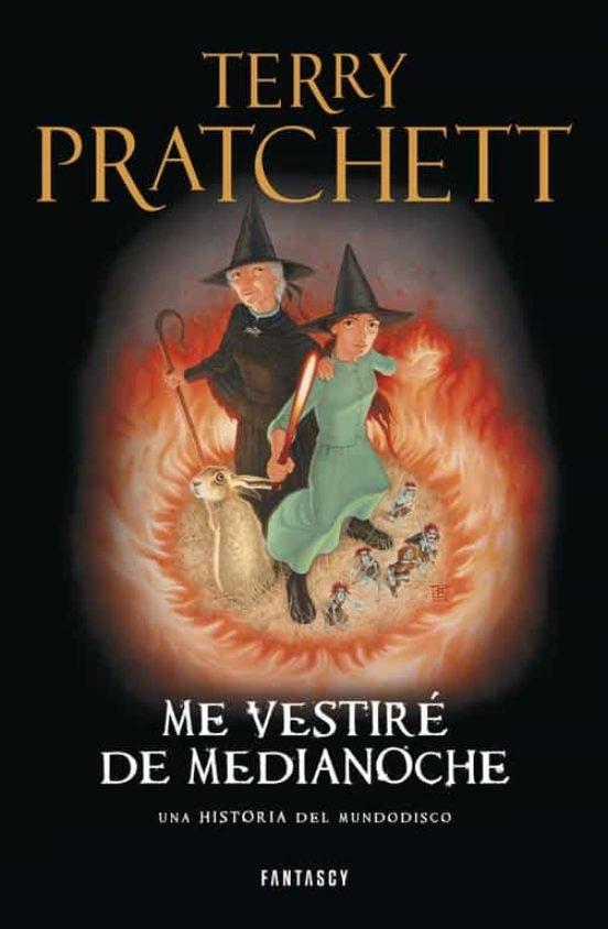 Portada de Me vestiré de medianoche - Mundodisco - Terry Pratchett