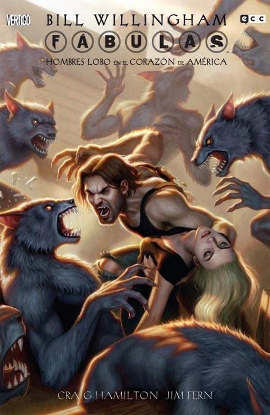 Portada de Fábulas: Hombres lobo en el corazón de América