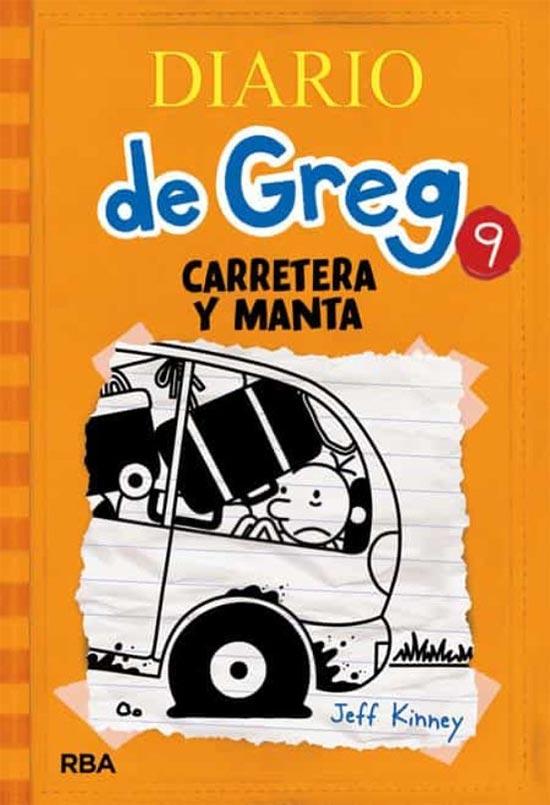 Portada de Diario de Greg 9: carretera y manta