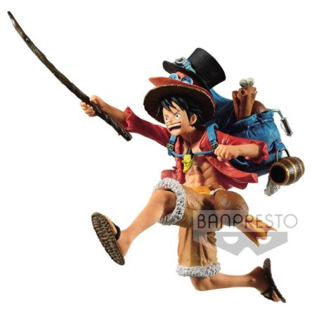 Figura Monkey D. Luffy Three Brothers One Piece 11cm (Banpresto)