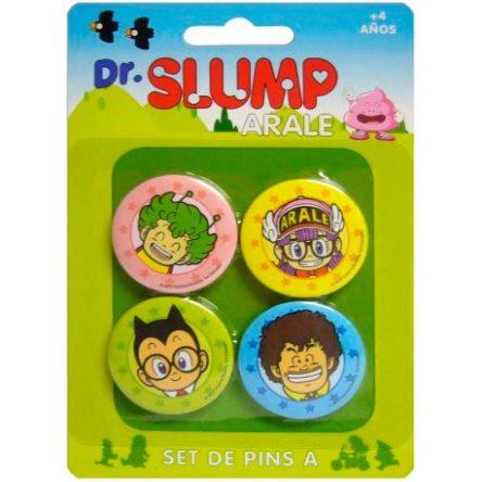 Chapas Dr. Slump Arale personajes set de 4