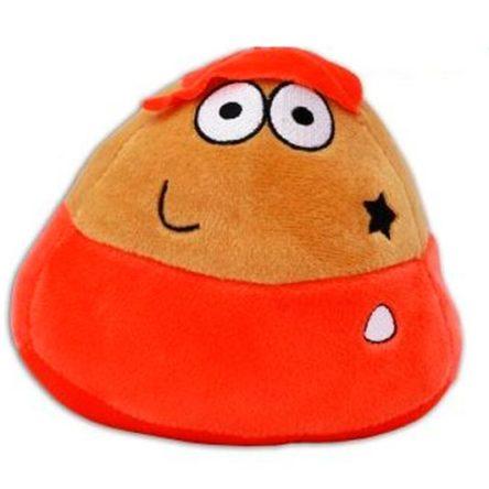 Peluche Pou gorra naranja y estrella